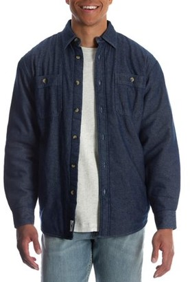 Wrangler Men's and Men's Big Sherpa Lined Flannel Shirt, up to Size 3XL