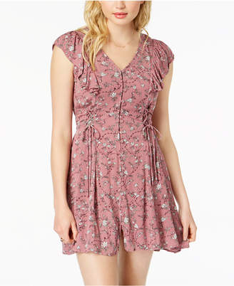 American Rag Juniors' Lace-Up Fit & Flare Dress, Created for Macy's