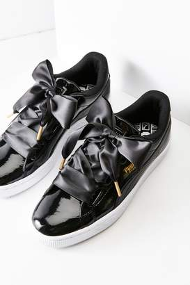 Puma Basket Heart Patent Leather Sneaker $85 thestylecure.com