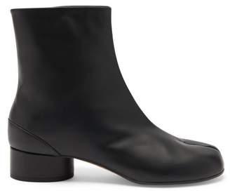 Maison Margiela Tabi Split Toe Leather Boots - Womens - Black