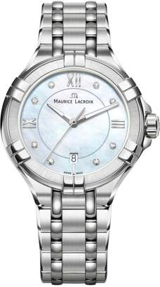 Maurice Lacroix Women's 'Aikon' Swiss Quartz Stainless Steel Casual Watch, Color:-Toned (Model: AI1004-SS002-170-1)