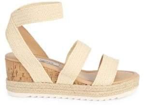 Steve Madden Frazer Cork-Wrapped Espadrille Platform Sandals