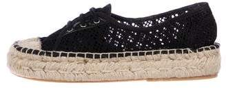 Diane von Furstenberg Lace-Up Low-Top Espadrilles