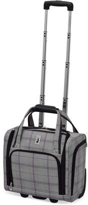"""London Fog Knightsbridge 15"""" Under Seat Tote, Available in Brown and Grey Glen Plaid, Created for Macy's"""