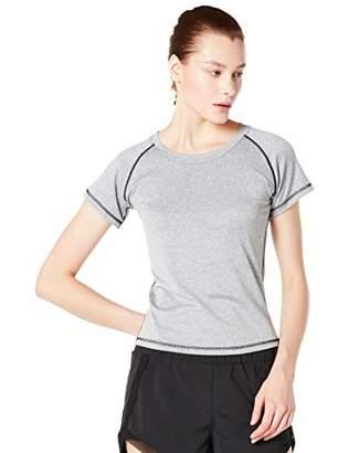 ebdb2b859bde6 Halina Athletics Quick-Dry Crewneck Short Sleeve Workout Tunic Top