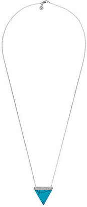 Michael Kors Pave Triangle Pendant Necklace $165 thestylecure.com