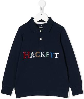 Hackett Kids embroidered logo polo shirt