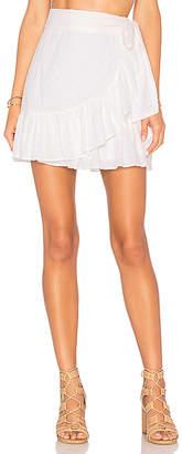 Tularosa x REVOLVE Maida Ruffle Skirt in White $138 thestylecure.com