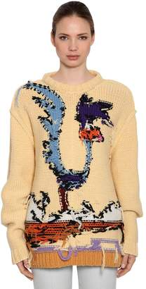 Calvin Klein Looney Tunes Inside-Out Wool Sweater