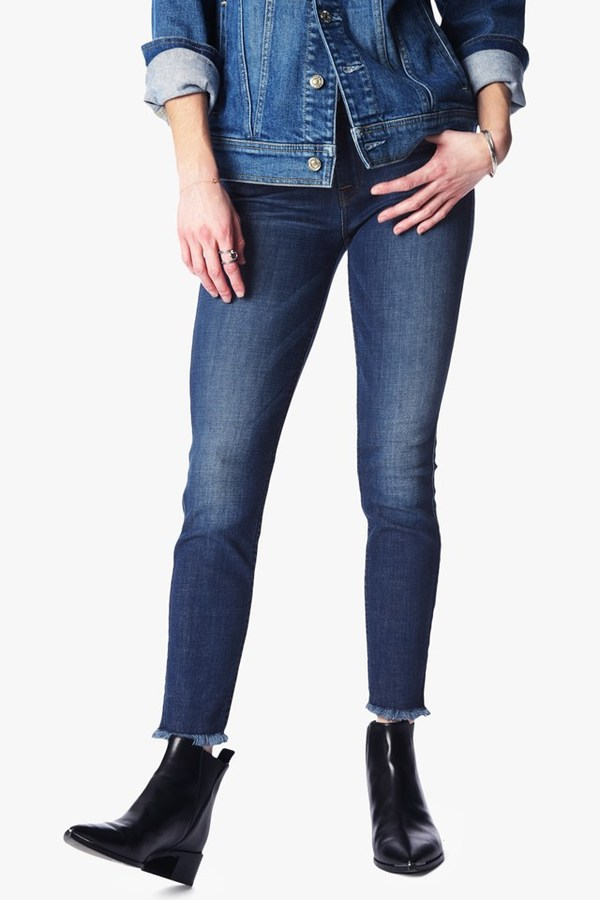 7 For All Mankind Ankle Skinny With Raw Hem In Bondi Beach
