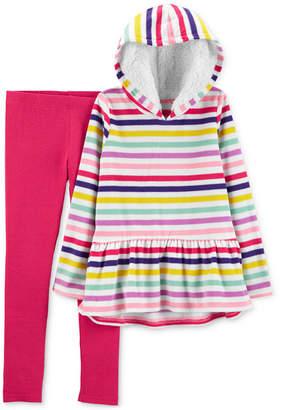 Carter's Little Girls 2-Pc. Striped Fleece Hoodie & Leggings Set