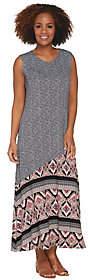 Joan Rivers Classics Collection Joan Rivers Petite Mixed Pattern SleevelessMaxi Dress