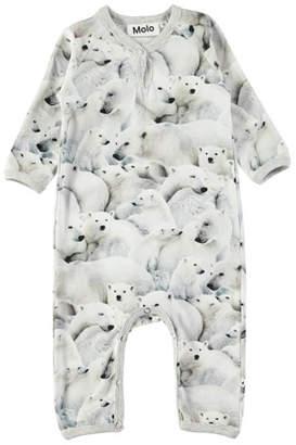 Molo Fiona Polar Bear-Print Coverall, Size 3-12 Months