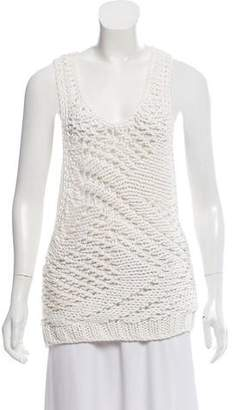 Helmut Lang Chunky Knit Sleeveless Top