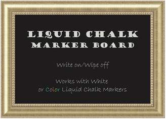 Amanti Art Large Champagne Finish Liquid Chalk Marker Board Wall Decor