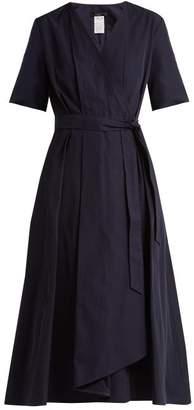 Max Mara Gene Wrap Dress - Womens - Navy