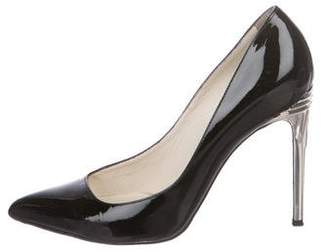 Balmain Pointed-Toe Patent Leather Pumps