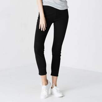 DSTLD Womens Suede Leggings in Black