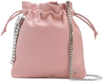 Giuseppe Zanotti Design crystal embellished satchel bag