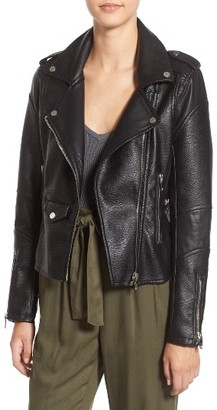 Women's Blanknyc 'Easy Rider' Faux Leather Moto Jacket $98 thestylecure.com