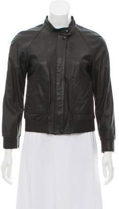 Theory Leather Zip-Up Jacket