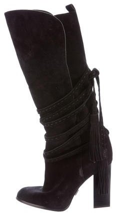 Michael Kors Lace-Up Suede Boots