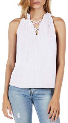Michael Stars Embroidered Neck Tank
