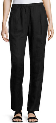 Eileen Fisher Organic Linen Slouchy Pants $178 thestylecure.com