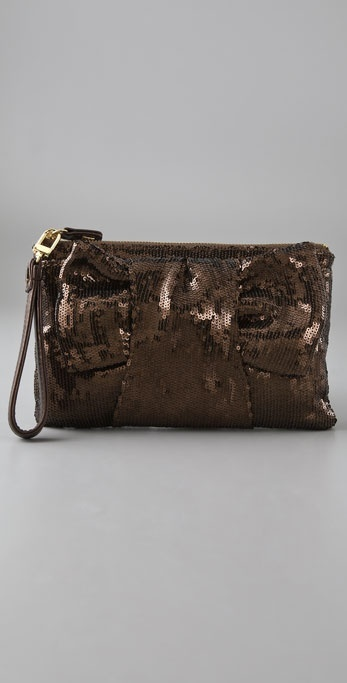 Felix Rey Sequin Bow Clutch