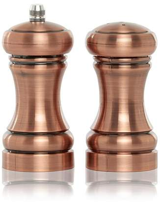 George Home Copper Effect Salt And Pepper Shakers