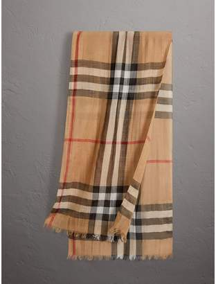 Burberry Exploded Check Wool Silk Scarf