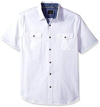 Lee Men's Short Sleeve Button up Camp Shirt