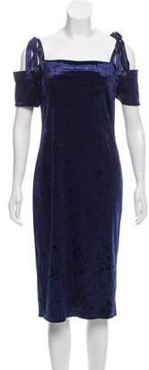 Nicole Miller Velvet Cold-Shoulder Dress w/ Tags