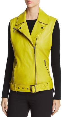 Kenneth Cole Leather Moto Vest