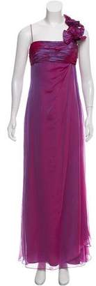 Teri Jon Silk Evening Dress w/ Tags