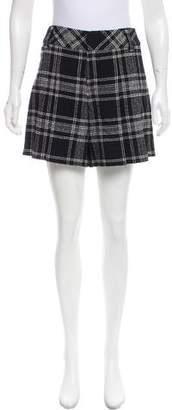 Alice + Olivia Wool-Blend Plaid Shorts