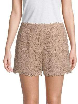 Valentino Floral Lace Cotton Shorts