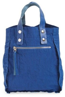 Tricot Comme Des Garcons Small Nylon Tote - Blue $245 thestylecure.com