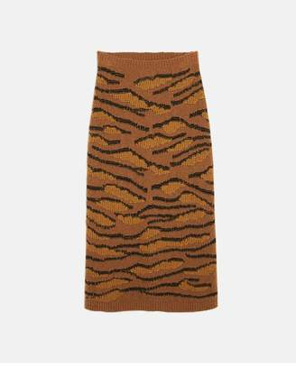 Stella McCartney Tiger Camouflage Skirt