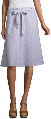 Liz Claiborne Chevron Linen A-Line Skirt