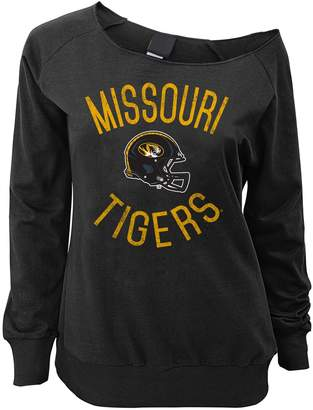 Juniors' Missouri Tigers Flashdance Slouch Crewneck