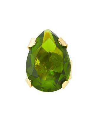 Devon Leigh Green Cubic Zirconia Teardrop Ring