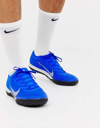 Nike Football Vapor X 12 Pro astro turf sneakers In blue AH7388-400