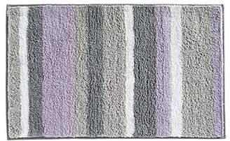 "InterDesign Microfiber Stripes Bathroom Shower Accent Rug - 34"" x 21"""