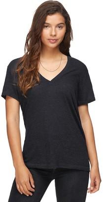 Monrow Granite Oversized V-Neck Shirt - Women's