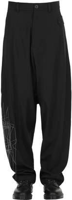 Isabel Benenato Constellation High Waist Cool Wool Pants