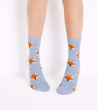 New Look Pale Blue Fox Socks