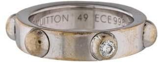 Louis Vuitton 18K Diamond Bague Clous Ring