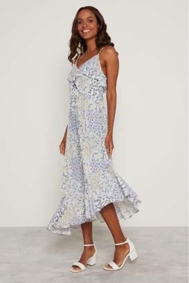 F&F Womens Blue Lilly Ruffle Dress - Blue