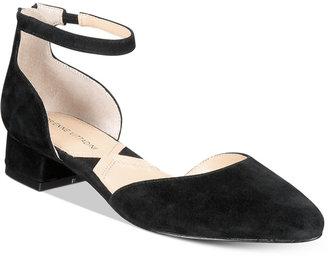 Adrienne Vittadini Soto Ankle-Strap Flats $89 thestylecure.com